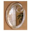 Oval Bevelled Mirror In Silver Finish 900188 (CO)