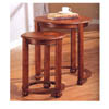 Nesting Tables In Dark Cherry Finish 901039 (CO)