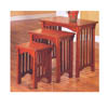 Nesting Table Set In Mission Oak Finish 901049 (CO)