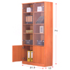 Bookcase With Glass Doors BC-571_(ALA)