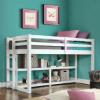 Loft Storage Bed Spacious Storage Shelves (WFS)