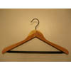 Cedar Concave Suit Hanger with PVC Ribbed Bar CDD8929 (PM)