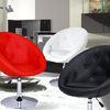 Egg Shape Cushioned Leatherette Adjustable Barstool