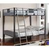 Full/Full Bunk Bed in Silver Gun Metal Finish CM-BK1013(IEM)