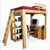 Solid Wood Loft Bed G265_LB-P(GH)