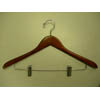 Gemini-concave suit hanger w/wire clips GMD8820 (PM)