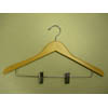 Genesis flat suit hanger w/wire clips natural GND8804 (PM)