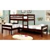 Corner 3-piece Twin Bunk Bed Set IDF-BK626(FAFS)