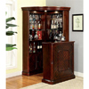 Solid Wood Myron Traditional Corner Home Bar in Dark Cherry
