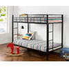 Quick Lock Twin over Twin Classic Metal Bunk Bed