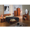 Dark Cherry Finish Bedroom Set P173BK(PK)