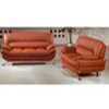 Leather Sofa Set In Brown S149-BR (PK)