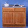 Oak Finish Sink Cabinet SBW42 (ARC)