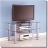 Contempo Glass 42 In. TV Stand V42Y79(WEFS)
