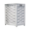 White Bowed Front Veneer Hamper BHV0100W (OD)(Free Shipping)