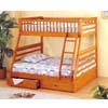 Solid Pine Twin/Full Bunk Bed With 2 Drawers CM-BK601_ (IEM)