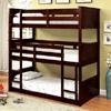 Twin Triple Decker Bunk Bed in Espresso CM-BK628(FAFS)