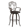 Crested Back Bar Stool 30 In. 02787MTL(LNFS)