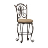 Gathered Back Counter Stool 24 In. 02790MTL(LNFS)