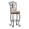 Gathered Back Bar Stool 30 In. 02791MTL(LNFS)
