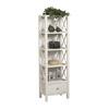 Anna Narrow Bookcase White 86102C147-A-KD-U (LN)