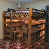 Solid Wood Brute Adult Loft Bed 1000 Lbs Wt. Capacity