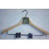 2 PK Wooden Hanger With Metal Clips