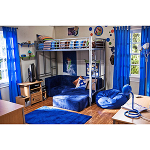 In The Zone Twin Size Metal Loft Bed 007106783(WFS160)