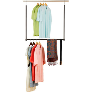 Closet Hanging Rods Canopy Closet Space Expander W Steel