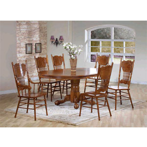 7-Pc Oak Dinette Set 1004-30/01/02 (WD)