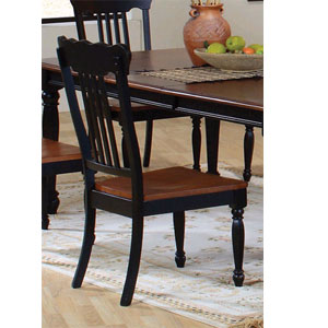 Classic Country Black/Pine Side Chair 100592 (CO)