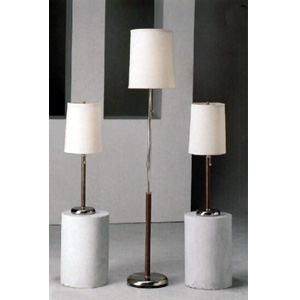 3-Pc Set Metal Base With Round Fabric Base Lamps 1151 (CO)