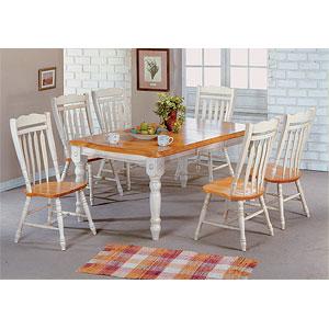Dinette Sets: Antique White Light Oak Dinette Set 1217 422 ...