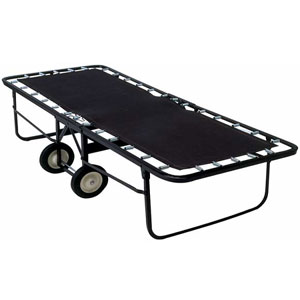 Angle Steel Rollaway W/Poly Deck Surface W/Mattress 129_(LP)