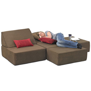 Studio Chair Sleeper: Memory Foam Comfort Lounge Sleeper 13959101 OFS319 @  NationalFurnishing.com