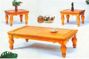 3-Piece Twisted Lace Coffee Table Set 1617 (MLu)