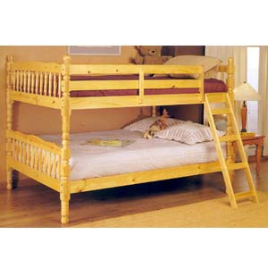 Natural Convertible Full/Full Bunk Bed 2290 (A)