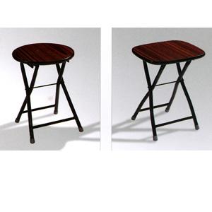 Wood Tone Folding Stool 05050W_(KU)