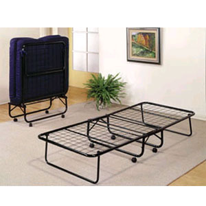 Strong Light Weight Folding Bed With Futon Mattress 3_(AVI)