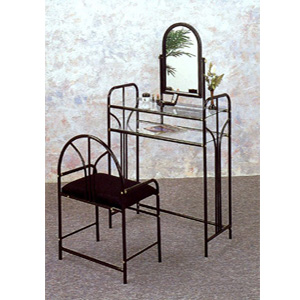 Glossy Black Art Deco Vanity Set 2436 (COFS35)