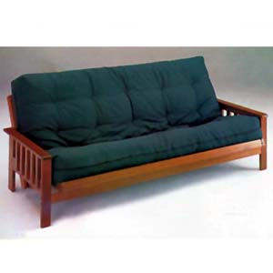 Futons Oak Finish Mission Style Futon Bed 2442 A