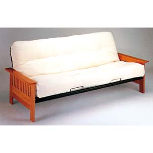 Mission Style Wood And Metal Futon Sofa/Bed 2511_(IEM)