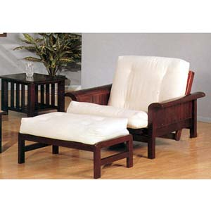 Sleigh Arm Futon Chair With Ottoman 2521c Iem