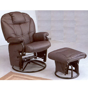 Pleasing Recliner Chairs And Ottomans Plum Leatherette Cushion Ncnpc Chair Design For Home Ncnpcorg