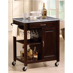Eden Granite Top Kitchen Cart 2696 (A)
