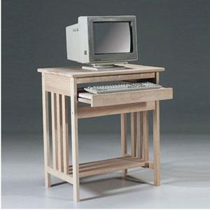 Unfinished Wood Mission Computer Desk 273(WFFS)