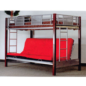 Vernon Twin Full Convertible Futon Bunk Bed 2785 A