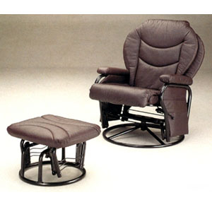 Stupendous Recliner Chairs And Ottomans Plum Leatherette Cushion Ncnpc Chair Design For Home Ncnpcorg