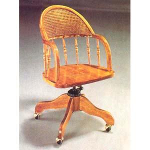 Oak Finish Swivel Chair  2997 (A)