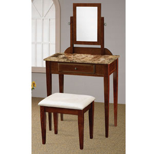 Faux Marble Top Vanity Set 300084 (CO)